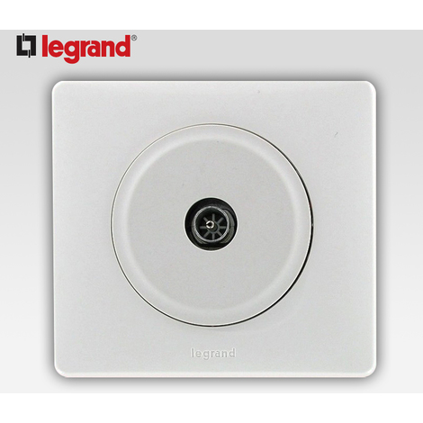 Prise tv simple male Legrand celiane blanc complet