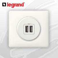 Prise USB Double complete Legrand Celiane Blanc Glossy Yesterday