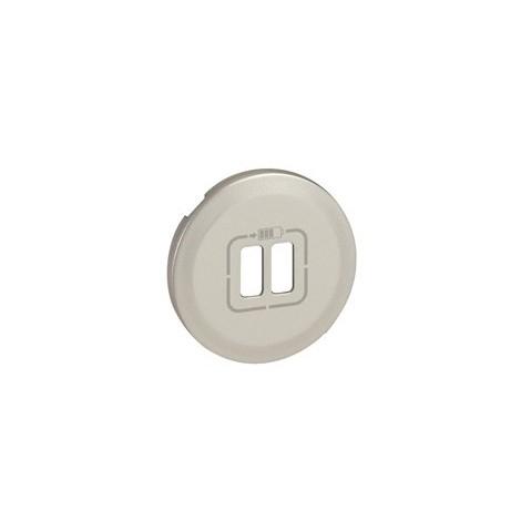 Prise USB double pour Chargeur titane Legrand celiane + Enjoliveur