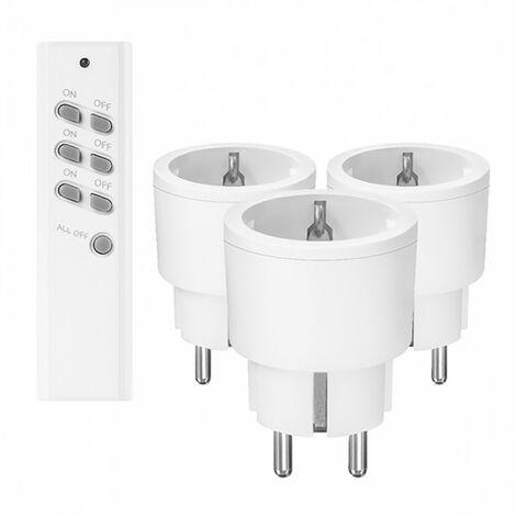 Prises électriques télécommandées - Blanc