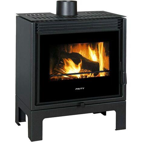 Prity PM-TV SL Poêle à bois design panoramique A+ 13 kW