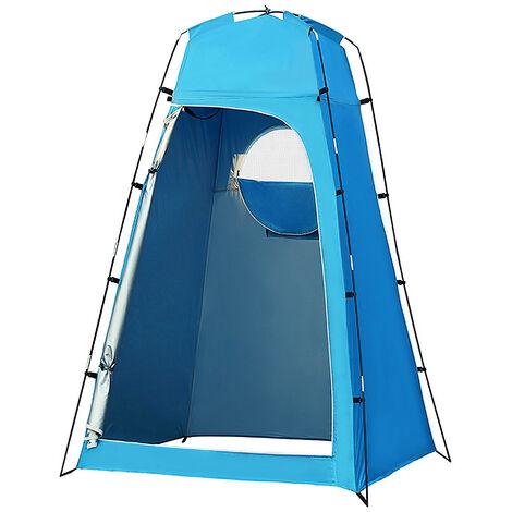 Privacidad abrigo de la tienda portatil plato de ducha al aire libre Changing Room Tienda con fondo desmontable para Camping Playa de fotografia, azul claro
