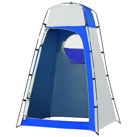 Privacidad abrigo de la tienda portatil plato de ducha al aire libre Changing Room Tienda con fondo desmontable para Camping Playa de fotografia, azul y gris