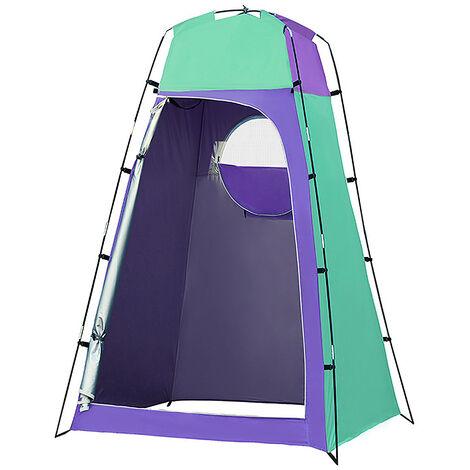 Privacidad abrigo de la tienda portatil plato de ducha al aire libre Changing Room Tienda con fondo desmontable para Camping Playa de fotografia, purpura y verde