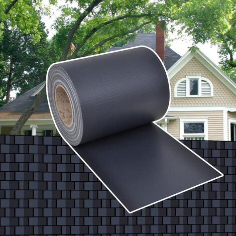 Privacy Fence Weave Roll PVC Dark Grey 70 x 0.19 m