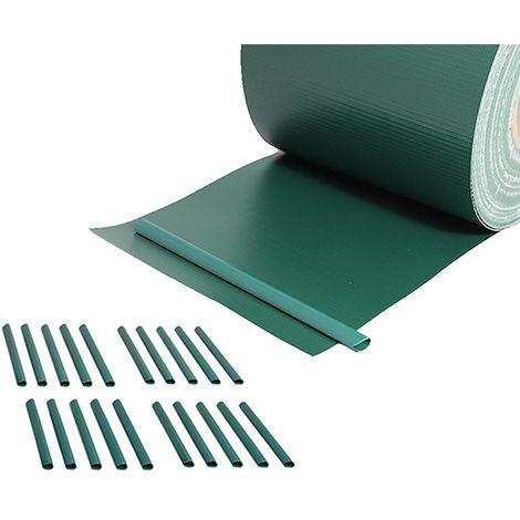 privacy film double rod mats fence foil opaque PVC windbreak 65M