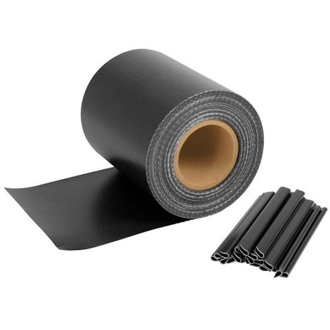 Privacy screen strips for double wire fences, 35 mx 19 cm, anthracite