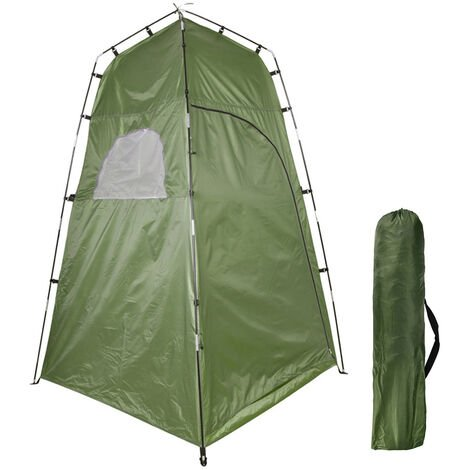 """main image of """"Privacy Shelter Tent Portable Outdoor Shower Toilet Changing Room Tent for Camping and Beach,model:Dark green"""""""