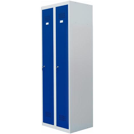 20005 blau pro-bau-tec Doppelspind Garderobenschrank
