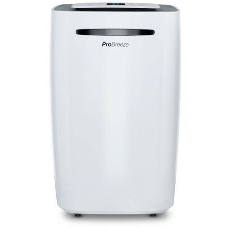 Pro Breeze Deshumidificador 20L, Pantalla Digital, Drenaje Continuo, Portátil, con 4 Modos de Uso, Temporizador y Secadora de Ropa