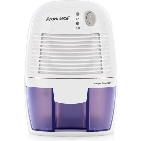 Pro Breeze Deumidificatore D'Aria Mini Compatto, Silenzioso e Portatile -500ml, per Muffa e Umidità - ideale per Casa, Camper, Ufficio, Garage, Bagno e Cantina