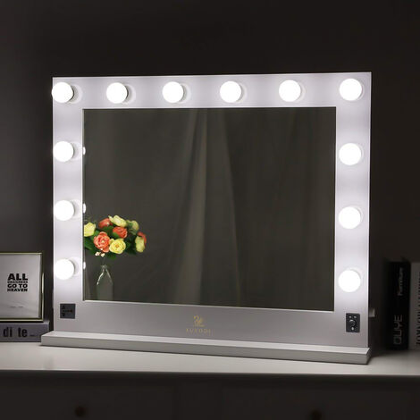 Pro Electric Vanity Makeup Light up Mirror Dimmable LED Bulbs For Dressing Table