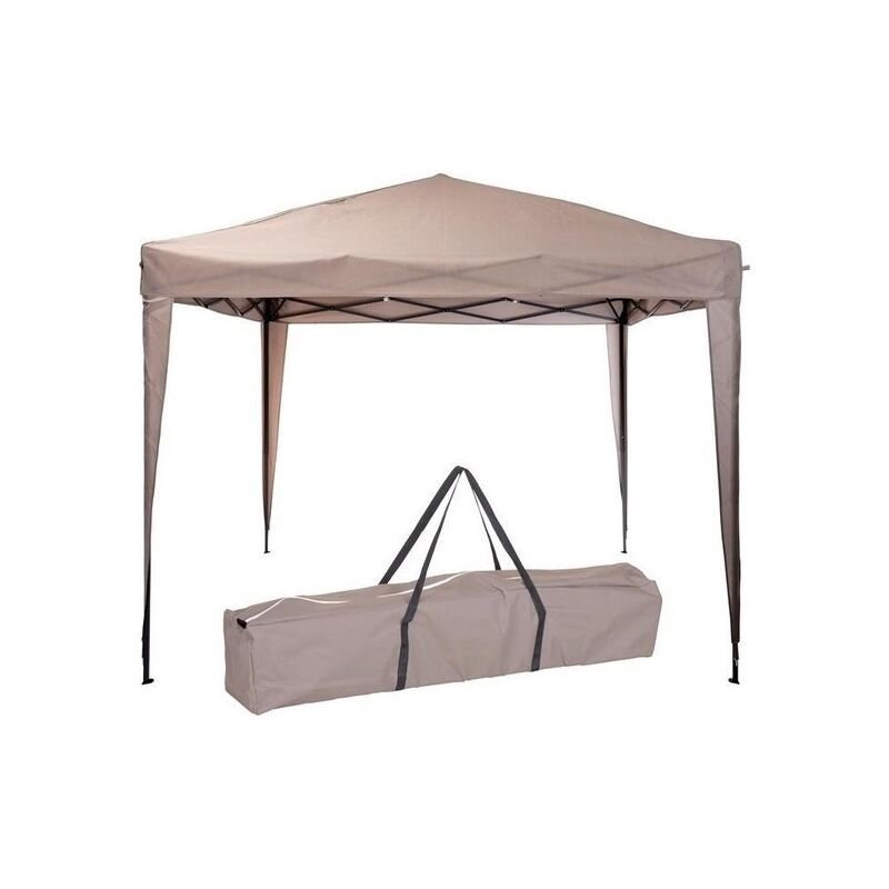 Tente de fête Easy-up - 3x3m - Pliable - Taupe - Pro Garden