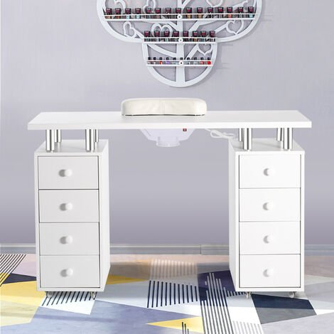 "main image of ""Pro Manicure Nail Table Mobile Storage Beauty Salon Desk"""