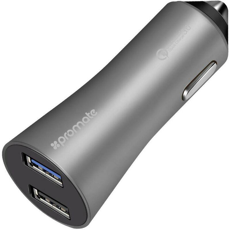 Robust-QC3 grey Robust-QC3grey Pro Mate Chargeur USB pour voiture, pour camion Courant de sortie (max.) 4800 mA 2 x USB