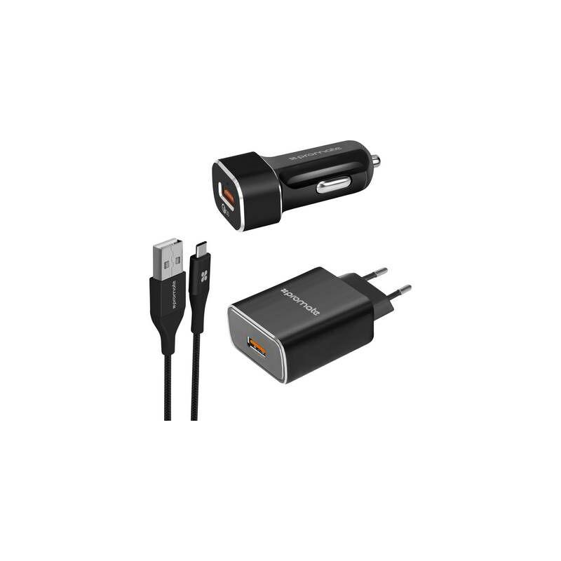 Unigear-QC3 UnigearQC3-EU Pro Mate Chargeur USB pour voiture, pour camion, pour prise murale 2 x USB 3.0 femelle type A
