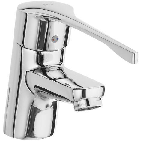 PRO - Mezclador para lavabo con enganche para cadenilla. Manecilla para Personas con Movilidad Reducida. - Serie Victoria - Roca