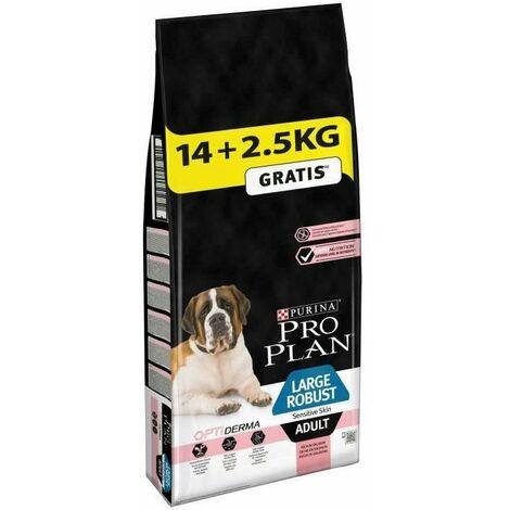 PRO PLAN Robust Sensitive Skin Optiderma - Croquettes au saumon - Pour chien adulte de grande taille - 14 + 2,5 kg