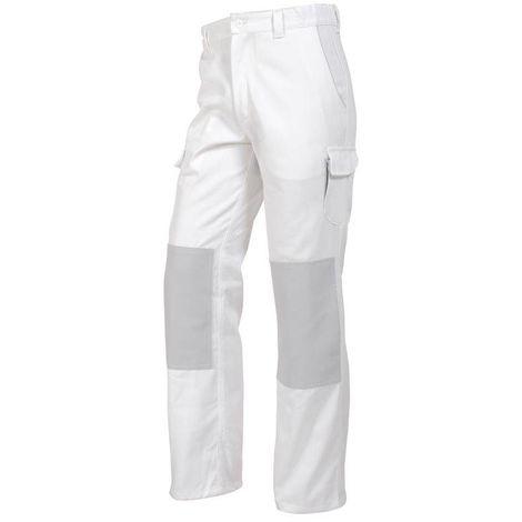 PRO UP Pantalon de travail homme poches genoux blanc MDH