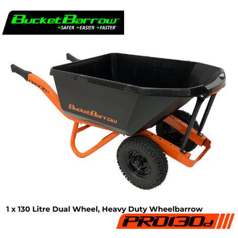 PRO130D Wheelbarrow 130 L (Only) with Dual Wheel- BucketBarrow