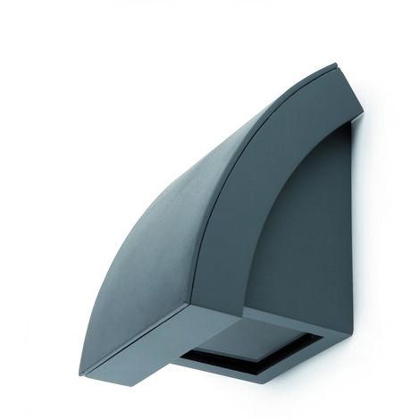 PROA Aplique de pared exterior - Gris oscuro - Halógena