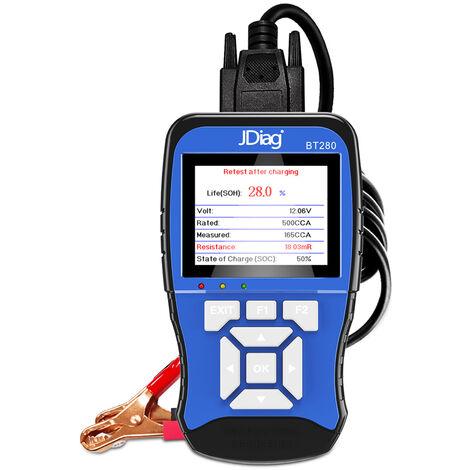 Probador de bateria de carga automotriz, herramienta analizadora de bateria digital