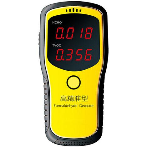 Probador de medidores de pantalla digital LED de formaldehido, Mini detector de aire, Analizador de gas