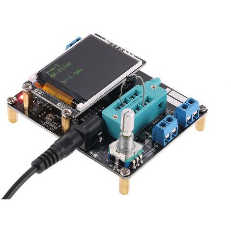Probador de transistores GM328A, medidor de frecuencia de voltaje ESR de capacitancia de diodo