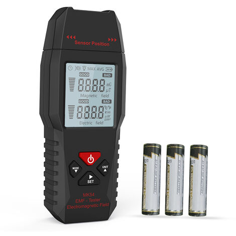 Probador Meterk MK54 EMF, Mini detector EMF LCD digital portatil