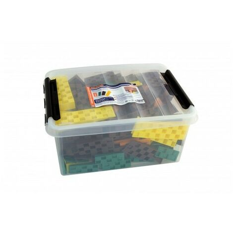 Probox de 245 cales crantées EDMA - 60 oranges + 70 vertes + 7 marrons + 40 jaunes - 188455