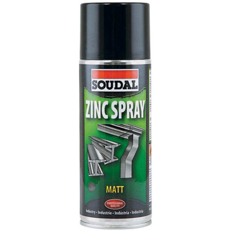 Spray zinc mat 400ml - Soudal