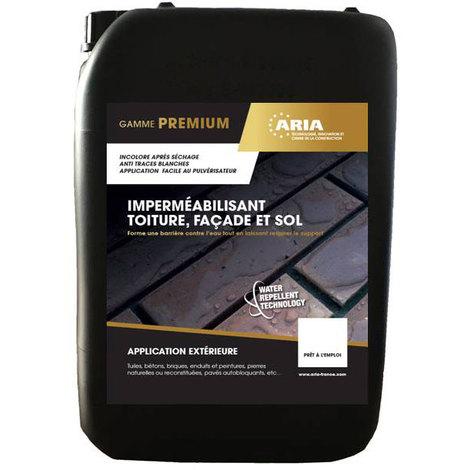 Produit hydrofuge pour imperméabiliser toitures, façades et sols : Aria Hydrolane incolore (5L et 20L)