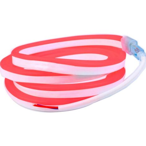 Profesional 12V EPISTAR 2835 120 LED/m 5 metros Cinta de neón LED flexible roja Impermeable (IP67)