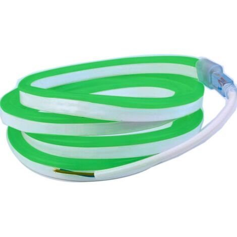 Profesional 12V EPISTAR 2835 120 LED/m de 5 metros Kit de cinta de neón LED flexible verde 12V EPISTAR 2835 120 LED/m de 5 metro