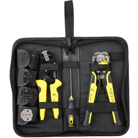 Professional 4 In 1 Wire Crimpers Engineering Ratcheting Terminal Crimping Pliers Bootlace Ferrule Crimper Tool Cord End Terminals With Wire Stripper