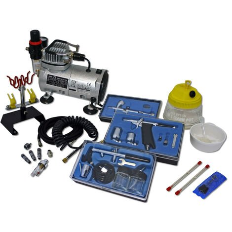 Professional Airbrush Compressor Set 1 AS18-2 with 3 Guns
