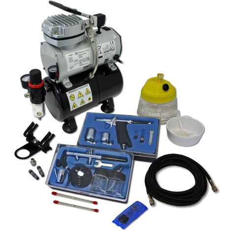 Professional Airbrush Compressor Set with 2 Guns AS189
