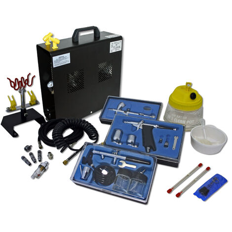 Professional Airbrush Compressor Set with 3 Gun AS196A