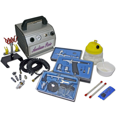 Professional Airbrush Compressor Set with 3 Guns AS176