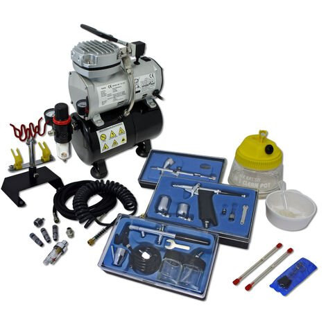 Professional Airbrush Compressor Set with 3 Guns AS189