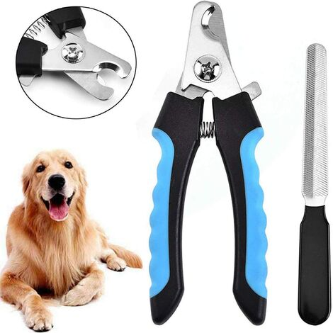 Professional Dog & Cat Nail Clipper, Nail Cutter with Nail File for Dog, Cat, Bird and Any Size Claw with Safety Lock and Nail File