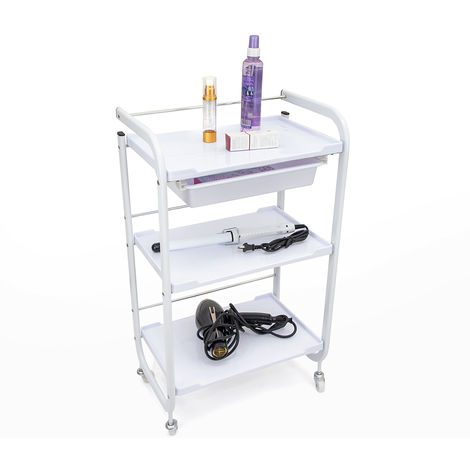 Professional drawer set trolley with wheels for hairdressers and beauticians BLUNT