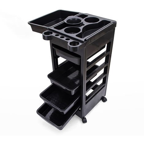 Professional drawer set trolley with wheels for hairdressers and beauticians WAVY
