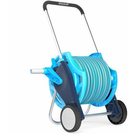 Professional ensemble tuyau d'arrosage de chariot enrouleur de tuyau d'arrosage y compris proffesional tuyau de 20m et au pistolet