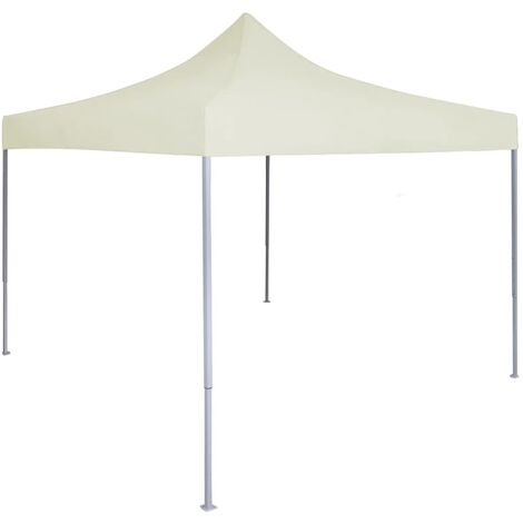 Professional Folding Party Tent 2x2 m Steel Cream