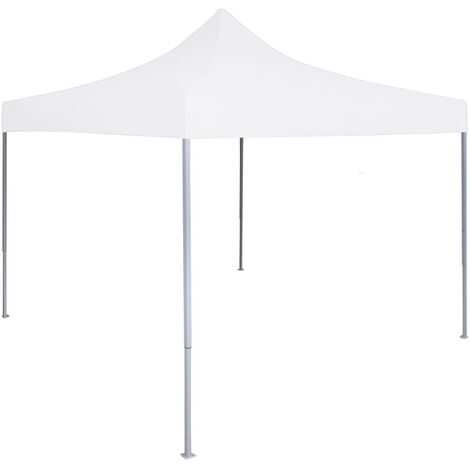 Professional Folding Party Tent 2x2 m Steel White - White