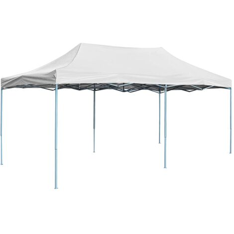 Professional Folding Party Tent 3x6 m Steel White