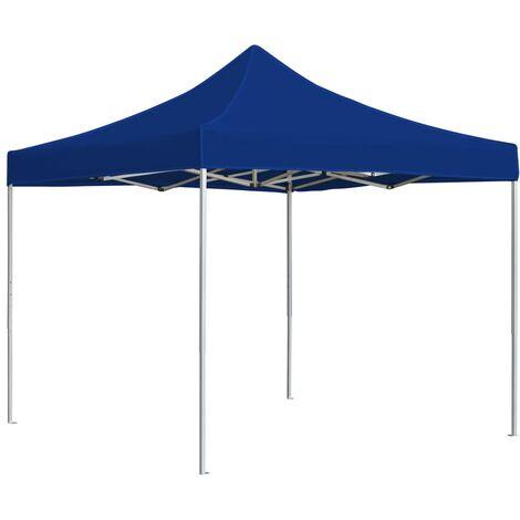 Professional Folding Party Tent Aluminium 2x2 m Blue