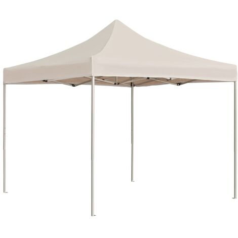 Professional Folding Party Tent Aluminium 2x2 m Cream