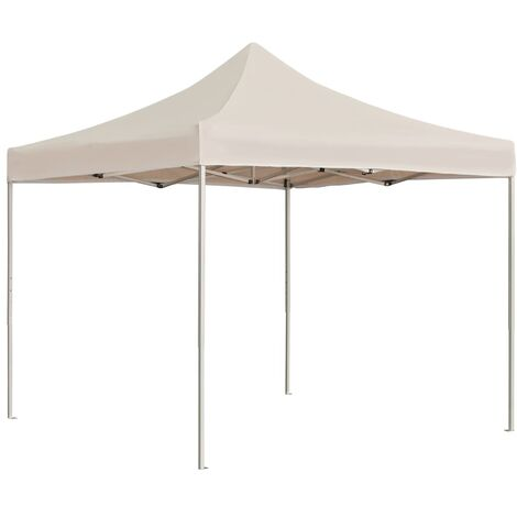 Professional Folding Party Tent Aluminium 2x2 m Cream - Cream